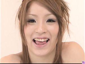 Nana Kinoshita deep-throats and screws in perfect pov
