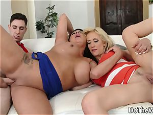 black-haired swinger Candi Coxx romps in front of hubby