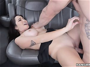 Karlee Grey picked up and slammed on the Bangbus