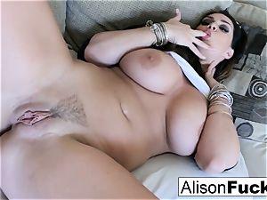 massive jug Alison kneads her immense jugs