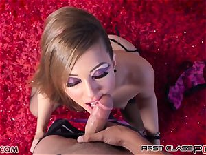 very first Class point of view - nubile Maddy O'Reilly suck a gigantic knob