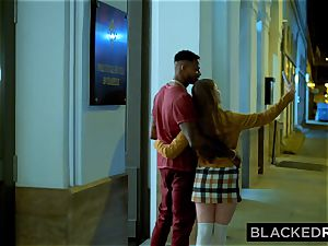 BLACKEDRAW brown-haired honey Gets poked Senseless By superior big black cock