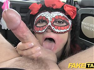 faux cab lady in mask gets boinked in the ass