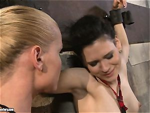 Kathia Nobili tantalizing a super-naughty school gal