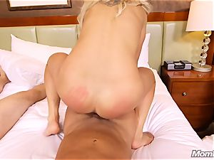 scorching Swedish light-haired pummels 2 ample penises