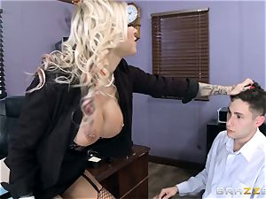 hot Headmistress Britney Shannon gets her forearms on a insatiable college girl