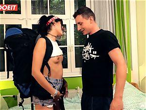 LETSDOEIT - naughty Traveler plows lucky German In Hostel