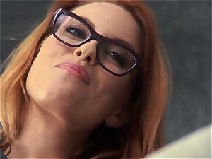 new lecturer Britney Amber nails for her job