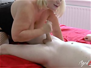 AgedLovE gonzo bang-out with Mature Lacey Starr