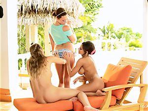 Madison Ivy, Nicole Aniston and Mia Malkova 3 way