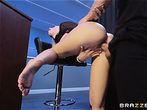Bailey Brooke gets frisky with the dangled bouncer