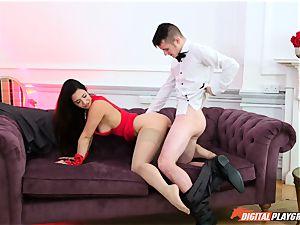 hooded domme Eva Lovia hanker cock