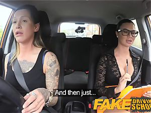 faux Driving school sexy strap on fun for fresh driver