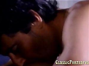buxomy female gets boinked rigid in retro porn