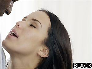Megan Rain humping a black fuck-stick