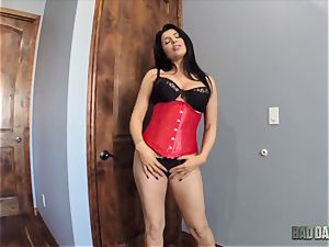 big-chested Romi Rain pov style cootchie plumbed