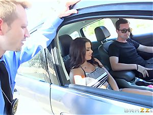 Keisha Grey getting pounded via the car