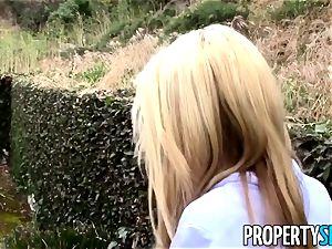 PropertySex blond realtor tricked into intercourse on camera