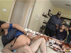 Criminals wife Jessica Jaymes fucked by a sizzling cop