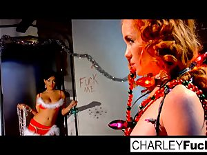 Charley and her magnificent girlfriend plow