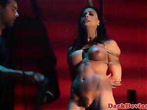flagellated Chanel Preston humped while tiedup