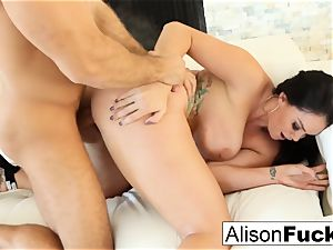 Alison takes on a big cock