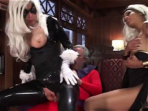 Vivid.com - trio supah Villains have a ultra-kinky 3some