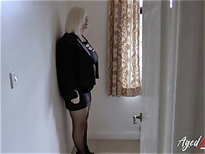 AgedLovE Mature lady Lacey Starr deepthroating stiff fuck-stick