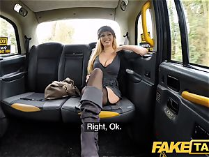 faux taxi busty blond mummy Amber Jayne sucks and tears up