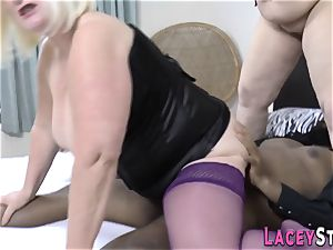 black stud pokes 2 ginormous Mature fucksluts