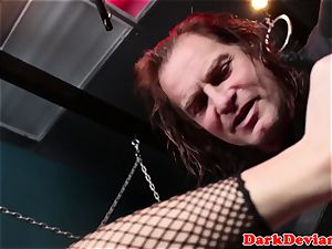 dominated babe facefucked in basement