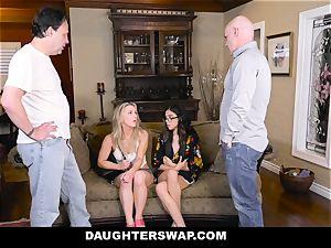 DaughterSwap Daddies pound Each Others tart daughters