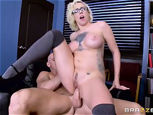 Dean Johnny Sins holds a fuck-a-thon education lesson with a lustful college girl
