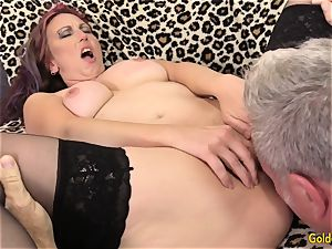 older Zoe Matthews intensively poked