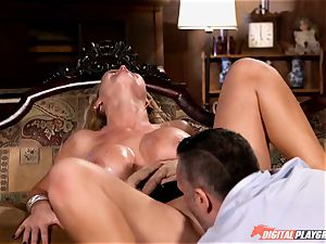Nikki Benz bashed stiff in the haunted palace