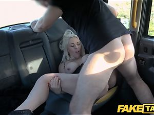 fake cab ash-blonde milf Victoria Summers porked in a taxi