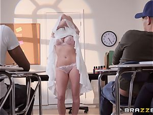 Christie Stevens arched over and drilled doggy style