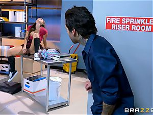 edible student Abigail Mac humps in the janitors room