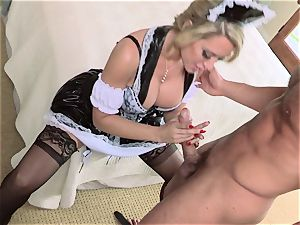 warm maid Capri Cavanni gives her boss some extras