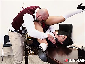mischievous college girl is worth to be disciplined for her misbehavior