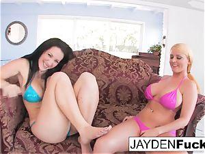 Jayden and Sophie come back To dark-hued hard-on