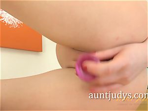 Tina Kay Gets naughty With Her pink dildo