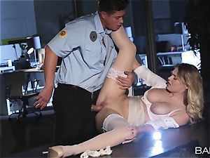 Natalia Starr pulverized by the night security guard