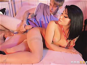 Nurse Rina Ellis filled plums deep by monster jizz-shotgun