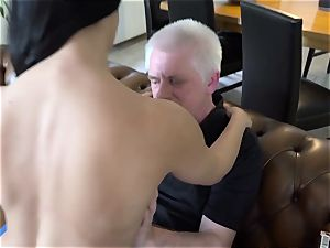older pornography steaming 18 years old virgin fuck-a-thon with aged man