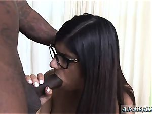 chum s sister money steal red head Mia Khalifa attempts A gigantic ebony shaft